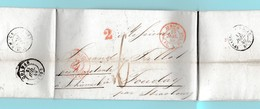 MEn.5 Zürich 12 Juil 1849.  Marque D'entrée N° 1335= Zürich Bureau Fr 1 De Bâle 13.7.49 Verso= Colmar - Storia Postale