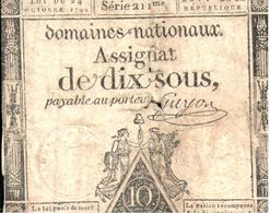 Billets >  France >  4 Assignats 10 Sous (usé) - Assignats