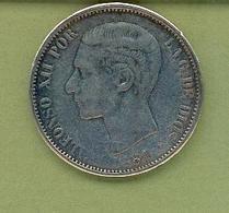 ESPAGNE - 5 Pesetas  ALPHONSO XII - 1881 - [ 1] …-1931 : Royaume