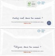 2 VISUELS DIFFERENTS  PAP REPONSE CIAPPA  UNADEV - Entiers Postaux