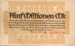 ALLEMAGNE – DORTMUND - HÖRDE - 15/08/1923 – Billet De Nécessité De 5.000.000 Mark - [11] Emissions Locales