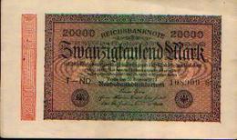 ALLEMAGNE – Reichsbanknote – 20.000 Mark – 20/02/1923 - [ 3] 1918-1933 : République De Weimar