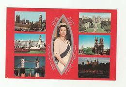 1977 Royal SILVER JUBILEE Queen Elizabeth Postcard Photo Precision St Ives Huntingdon Royalty Parliament Castle Church - Royal Families