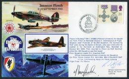 1990 GB RAF Flight Cover, Battle Of Britain, Signed. BFPS Hurricane, Northolt - 1952-.... (Elizabeth II)