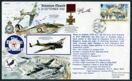 1990 GB, Douglas I.O.M. RAF Flight Cover Signed, Battle Of Britain, Northolt Hurricane - 1952-.... (Elizabeth II)
