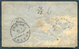 Victoria Cover (stamps Removed) Melbourne - Vermont USA. 'Boston Packet' 'Liverpool Australia Packet' - 1850-1912 Victoria