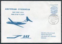 1979 Netherlands Sweden, SAS First Flight Cover Amsterdam - Stockholm - Airmail