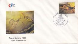 FDC. TEATRO NACIONAL 1993. COSTA RICA.- BLEUP - Costa Rica