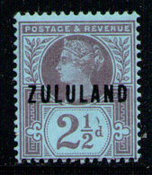 ZULULAND 1888 - From Set MVLH* - Zululand (1888-1902)