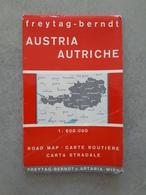 Carte Routière AUSTRIA - AUTRICHE - 1971 - Cartes Routières