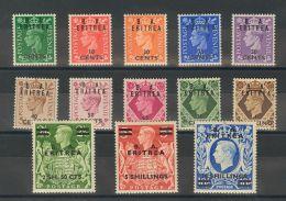 Eritrea Ocupación Británica  *Yv 13/25. 1950. Serie Completa. MAGNIFICA. (SGE13/25 100£) Yvert 2014: 85 Euros. - Eritrea