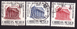 Mexico, Scott #801-803, Used, Theater Of Peace, Issued 1945 - Mexique