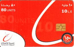 EGYPT - Telecom Egypt Telecard 10 L.E.(matt Surface), CN : G408, Chip GEM3.1, Used - Egypt
