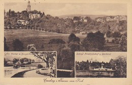 AK Kronberg Cronberg I. Taunus Vom Park - Schloß Friedrichshof Weiher Burgerdenkmal - 1927 (35802) - Kronberg
