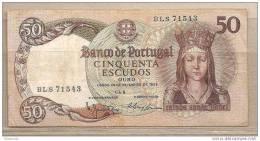 Portogallo - Banconota Circolata Da 50 Escudos P-168a.7 - 1964 - Portugal