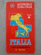 Carte Routière Automobile  Club D'Italia - 1979 - Roadmaps