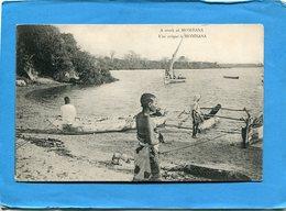Kenya-mombassa -une Crique-pirogue A Balanciers Animée-années 1910-20 édition - Kenya