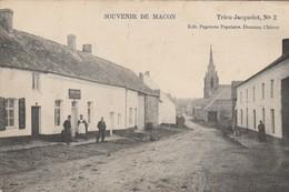 Souvenir De  Macon - Lez - Chimay , Trieu-Jacquelot , N° 2 ; ( Estaminet ,café,église ) - Momignies