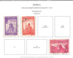 Serbia Occup.German PO .1942/43 Monasteri Scott.2N 31+32+37+See Scan On Scott.Page - Serbia