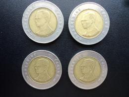 THAÏLANDE : LOT 10 BAHT  2532 (1989) R + 2545 + 2547 + 2548   Y 227 - Monete & Banconote