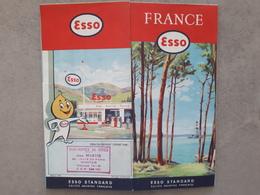 Carte Routière De France - ESSO SERVICE NANTES - 1957 - Cartes Routières