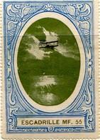 VIGNETTE D'AVIATION  DE LA GRANDE GUERRE- ESCADRILLE MF 55 - N° 140  Du Catalogue NAUDET - - Commemorative Labels