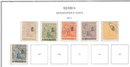Serbia Occup.German Newpaper  .1911 Newspaper  Scott.P1/6+See Scan On Scott.Page - Serbia