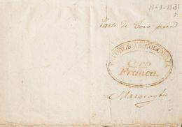 Colombia . Prefilatelia SOBRE. Yv . 1836. CORO A MARACAIBO (restaurada Parcialmente (plastificada) Al Dorso). Marca REPU - Colombia