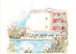 PIE18-F-3766 : GRUISSAN. HOTEL DU PORT  BOULEVARD DE LA CORDERIE. AQUARELLE - Ohne Zuordnung
