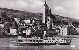 AK Stein A. D. Donau - Dampfer - Werbestempel Flugpost Nach Dem Ausland - 1957 (35815) - Wachau