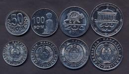 Uzbekistan 50 100 200 500 Som 2018 UNC (Set 4 Coins) - Uzbenisktán