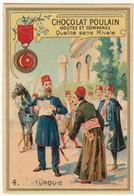 Chromo Chocolat Poulain (les Décorations Françaises Et étrangères) N°4- Turquie. Le Medjidié - Chocolat
