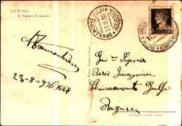 71373)  CARTOLINA DI LITTORIA-IL PALAZZO COMUNALE-VIAGGIATA - Italia