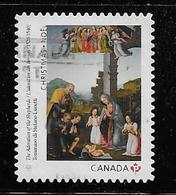 2017, CANADA,  USED  CHRISTMAS :   ADORATION Of The SHEPERDS  SINGLE - Carnets