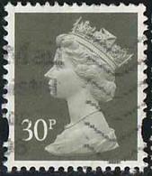 GB 1997 Yv. N°1965 - 30p Gris-olive Foncé - Oblitéré - Machin-Ausgaben