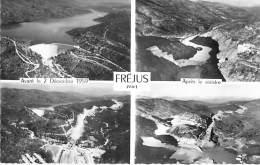 ( Lot De 4 Cartes ) 83 - FREJUS : Barrage De MALPASSET Avant / Après La Catastrophe - CPSM Dentelée N/B - Var - Frejus