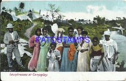 96468 CUBA CAMAGÜEY COSTUMES LAVANDERAS LAUNDRESSES POSTAL POSTCARD - Postcards