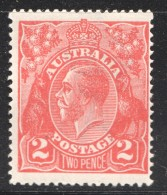 George V Head  2d. Bright Rose Scarlet  SG 63  *  MM - 1913-36 George V: Köpfe