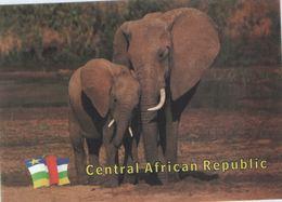 Central African Republic (CAR) - Elephant - UNESCO Site Postcard - Central African Republic