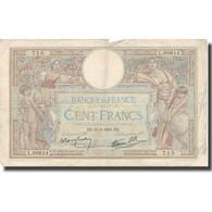 France, 100 Francs, 100 F 1908-1939 ''Luc Olivier Merson'', 1938, 1938-09-22 - 100 F 1908-1939 ''Luc Olivier Merson''