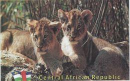 Central African Republic (CAR) - Lions - UNESCO Site Postcard - Central African Republic
