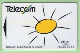 New Zealand - 1993 Telecom Commitment To Service - $5 Sun - Mint - NZ-P-6 - New Zealand