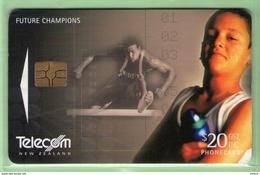 New Zealand - Chipcards - 2000 Future Champions - $20 Hurdling - VFU - Card 066 - Nueva Zelanda