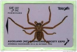 New Zealand - 1992 Auckland Phonecard Expo - $5 Spider - NZ-E-1 - VFU - New Zealand