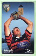 New Zealand - Chipcards - 2000 Super 12 Rugby - $5 Todd Blackadder - VFU - Card 038 - New Zealand