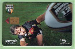 New Zealand - Chipcards - 2000 Super 12 Rugby - $5 Rhys Duggan - VFU - Card 037 - New Zealand