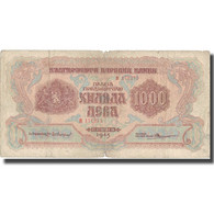 Billet, Bulgarie, 1000 Leva, 1945, 1945, KM:72a, TB - Bulgarie