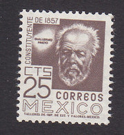 Mexico, Scott #897A, Mint Hinged, Prieto, Issued 1956 - Mexique