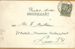 Op-527: N°55: BREDA-VLISSINGEN > London : Pk: Intrede Te Middelburg 1904 - Periode 1891-1948 (Wilhelmina)