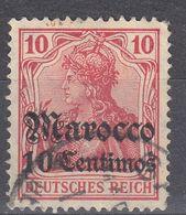 MAROCCO, UFFICIO TEDESCO - 1900 -  Michel 9, Usato  Come Da Immagine. - Ufficio: Marocco